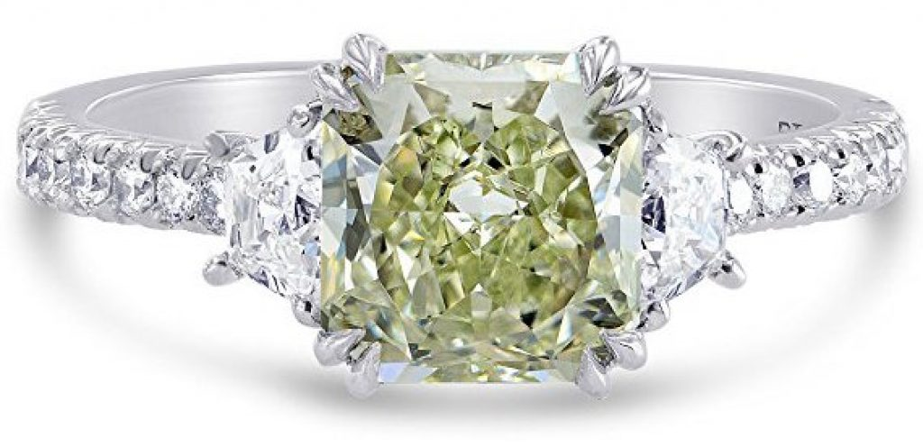 colored diamond engagement rings